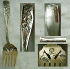 """Towle """"Pomona"""" Sterling Silver Sardine Fork, Fruit & Cornucopia"""