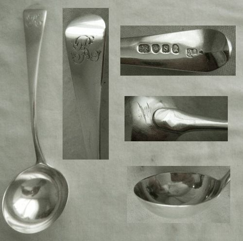 Georgian Sterling Silver Gravy Ladle, GS/WF, London, 1793