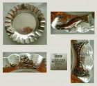 Gorham Mixed Metal Number 385 Aesthetic Dish Dating 1881 (A)