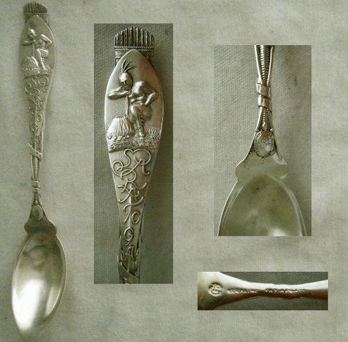 "Durgin ""Saratoga"" New York Sterling Silver Souvenir Citrus Spoon"