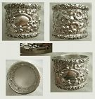 Stieff Repousse Rose Heavy Sterling Silver Napkin Ring, Older