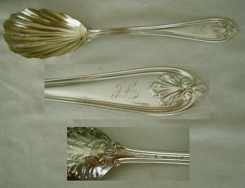 "Gorham ""Josephine"" Shell Bowl Coin Silver Berry Spoon"