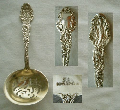 "Gorham 1888 ""Versailles"" Sterling Silver Confection Spoon"