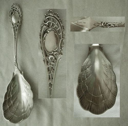 Koch & Bergfeld 800 Silver Large Reticulated 19th C. Serving Spoon