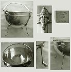 "Wendt ""Bust"" Sterling Silver Swing Handle Stag Feet Bowl"