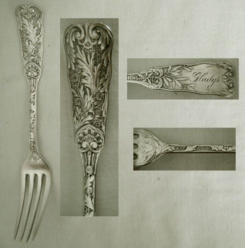 """Gorham """"St. Cloud"""" Sterling Silver Youth Fork, """"Gladys"""""""