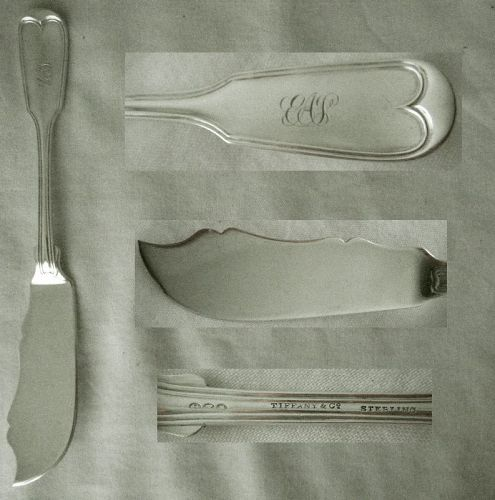 "Tiffany & Co. (Hebbard) ""French Thread"" Sterling Master Butter Knife"