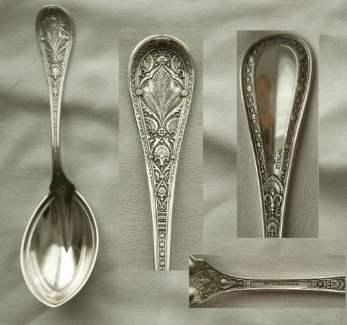 "Whiting ""Persian"" Moorish Style Sterling Silver Preserve Spoon"