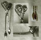 Finnish Rose & Leaf 813 Silver Sugar Nips
