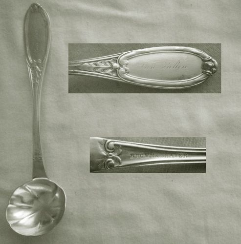 Brown & Shaver, Utica, NY, Coin Silver Sauce or Cream Ladle