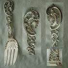 Durgin Baroque aka Pierced Design Large Sterling Silver Serving Fork