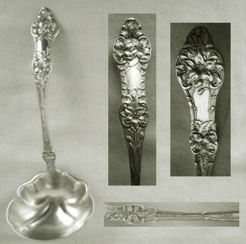 "Alvin ""Old Orange Blossom"" Sterling Silver Sauce Ladle, Original"