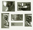 Turner & Simpson, Birmingham, Lion Head Sterling Small Footed Bowl