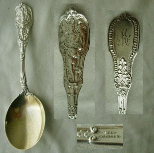 "Gorham ""Mythologique"" Old Sterling Silver Pea Serving Spoon"