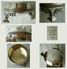 Tiffany J.C. Moore Large Footed Sterling Silver Master Salt Cellar