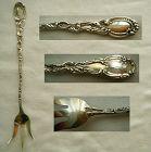 "Durgin ""Louis XV"" Rococo Sterling Silver Lettuce Fork, No Monogram"