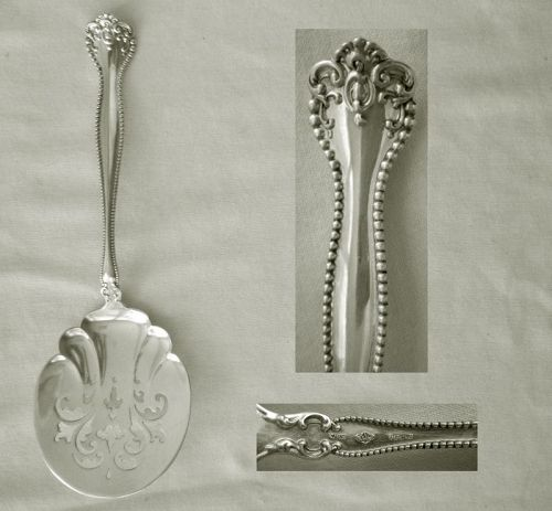 """Alvin """"Raleigh"""" Large Pierced Flat Sterling Silver Server"""