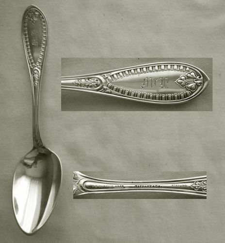 "Polhhamus ""Ionic"" Sterling Silver Place Spoon Retailed by Tiffany & Co"