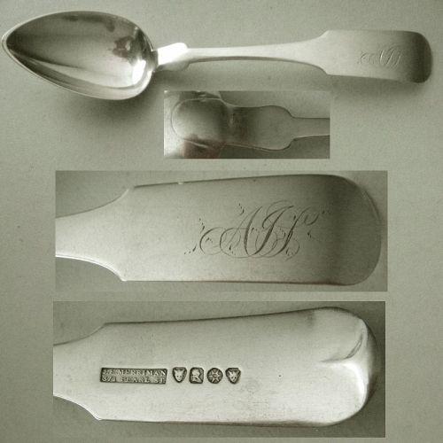 J.E. Merriman, NYC & Memphis, Coin Silver Place Spoon