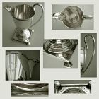 Shreve Crump & Low Arts & Crafts Sterling Silver Footed Pitcher