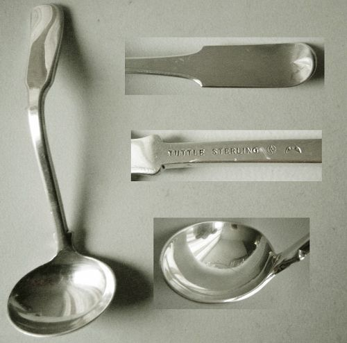 "Tuttle ""Colonial Fiddle"" JFK Sterling Silver Sauce or Cream Ladle"