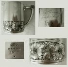 Large Gorham 1880 Sterling Silver Mug with Notable Provenance