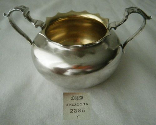 Gorham 1881 Two Handle Sterling Silver Open Bowl