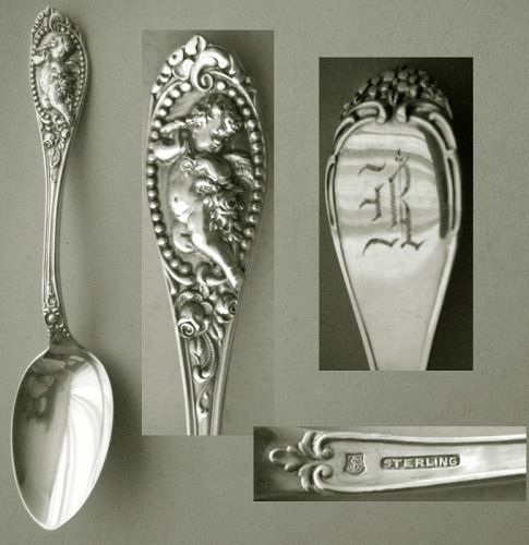"A. F. Towle ""Wentworth"" with Cherub Sterling Silver Teaspoon"