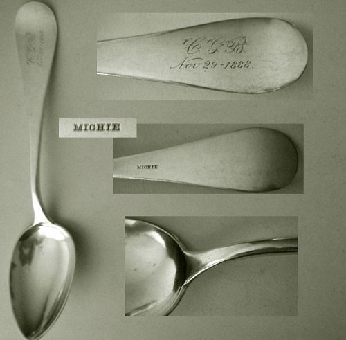 "Michie, Cincinnati, ""Antique"" Silver Table or Serving Spoon"