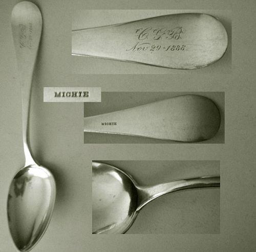 """Michie, Cincinnati, """"Antique"""" Silver Table or Serving Spoon"""