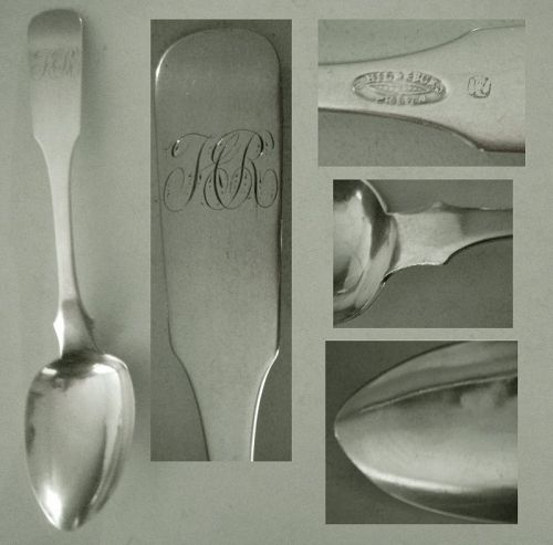 Samuel Hildeburn, Philadelphia, Early 19th C. Coin Siver Tablespoon