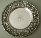 "S. Kirk & Son Co. ""Repousse"" Sterling Silver Plate, Older & Weighty"