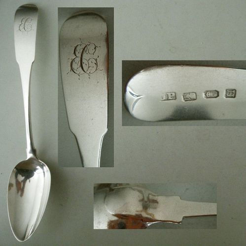 "Dublin, JP, 1804, ""Old English"" Sterling Silver Tablespoon"