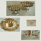 Dominick & Haff Pair Sterling Silver Footed Dishes