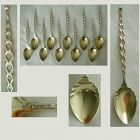 Whiting Aesthetic Ten Matching Sterling Silver Coffee Spoons