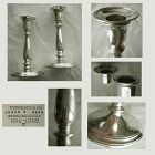 "PairTiffany Baluster Form 6 1/2"" Sterling Silver Weighted Candlesticks"