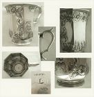 William Gale & Son Octagonal 1850s Coin Silver Footed Mug