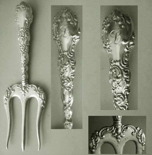 Late Victorian Sterling Silver Bread or Toast Fork