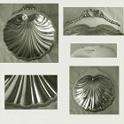 Large Georgian Style Sterling Silver Scallop Shell Dish with Ball Feet