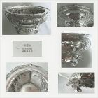 Gorham Large Footed Sterling Silver Master Salt Cellar x 2