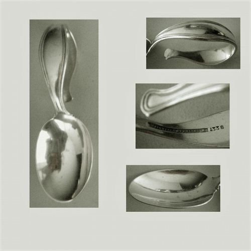 Tiffany No. 1338 Arts & Crafts Sterling Silver Loop Handle Baby Spoon