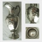 Bailey & Co., George Sharp, Repousse w/Greek Key Coin Silver Ewer