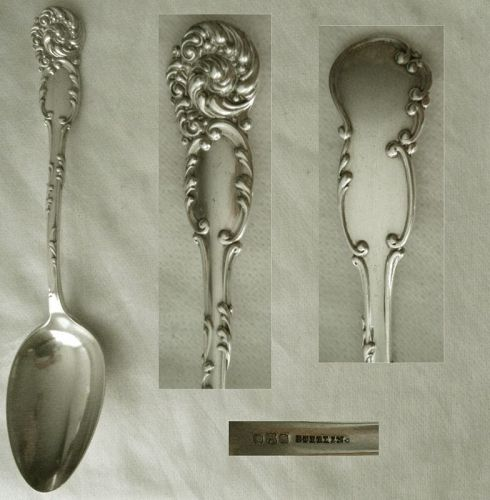 "Reed & Barton ""La Reine"" Sterling Silver Table Serving Spoon x 2"