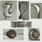 Crichton, London 1933, Small Georgian Style Sterling Silver Cream Jug