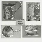 Vincent Laforme & Bro., Boston, c. 1851 Repousse Coin Silver Mug