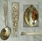 "Whiting ""Berry"" Round Bowl Sterling Silver Sugar Spoon"