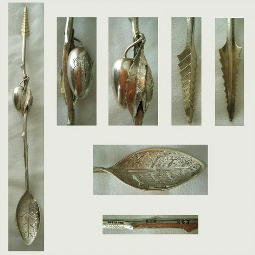 Gorham Number 267 Sterling Silver Olive Spoon and Fork