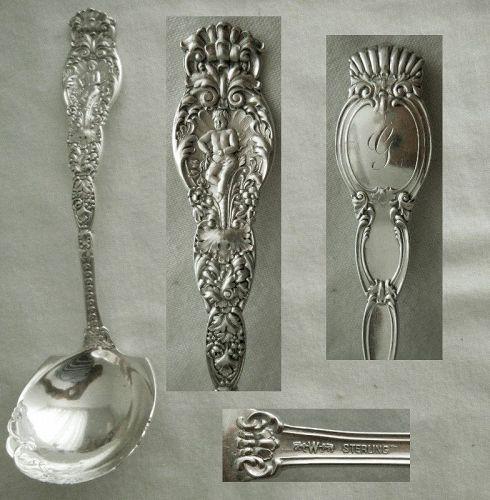 "Wendell ""Ariel"" Cherub Figure Sterling Silver Sauce or Gravy Ladle"