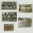 "Shiebler ""Floral & Foliate"" Filigree Sterling Silver 4179 Stamp Box"
