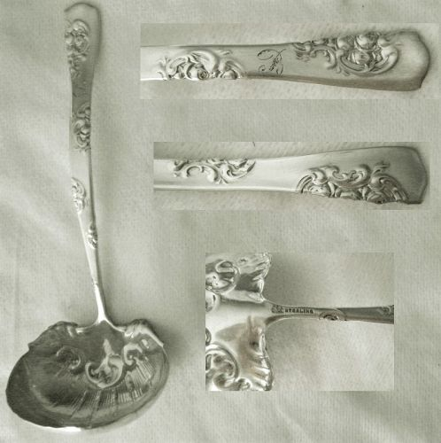"Whiting ""Roses & Scrolls"" aka ""LaFrance"" Sterling Silver Sauce Ladle"